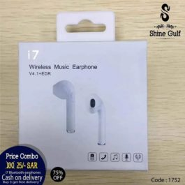 Technology and Best Sounds Quality with Charging Box & Cable ,ONE PAIR -2pcs i7 bluetooth headphone ( buy 3 get free delivery )