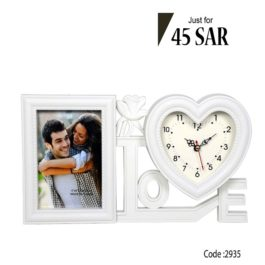 Gifts Of Clock with Photo Frame and for Home Living Room Bedroom