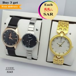 Branded PERLA, ROSHAN and CALVNBOLO Combo Watch Set