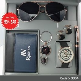 Brand New Roshan Men's watch with Accessories set Combo