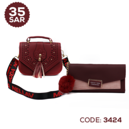 Trend New Stylish Shoulder Bag with Modish Wallet for Ladies