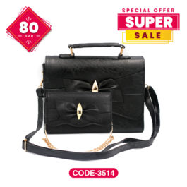 Trend New Dashing Hand Bag Tote with Modish Chain Sling Bag
