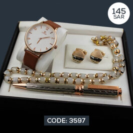 Classic LYTON Watch with Luxurious Men's Accessories