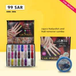 Classic Colors Nail Polish Set 24Pcs Nail Gel Polish Set with Glossy & Matte Top Base Coat Gift for Women for Gift