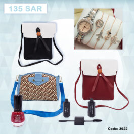 Branded Calvnbolo Watch set with Ornaments and Hand Bags Tote with Ladies Cosmetics